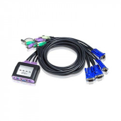 Aten CS64A 4-Port PS2 VGA Audio Cable KVM Switch   1.8m