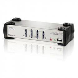 Aten CS1734B 4-Port PS2-USB VGA Audio KVMP Switch with OSD
