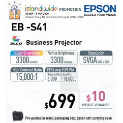 Epson EB-S41 LCD Projector SVGA 3300 ANSI [Promo]